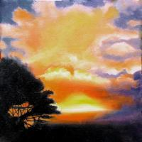 Oil Paintings - Sunset - Oil On Canvas