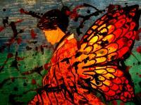 Madame Butterfly 15 - Mixed Media Mixed Media - By Alec Yates, Mixed Media Mixed Media Artist