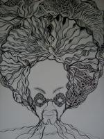 Surrealism - Afro Man - Art Markers