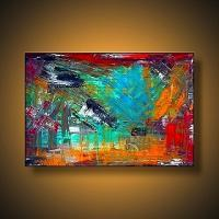 Success - Original Modern Abstract Contemporary Art Ebsq - Acrylics Paintings - By Laura Barbosa, Abstract Painting Artist