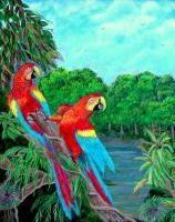 Jewels Of The Amazon - Acrylic Paintings - By Fram Cama, Realism Painting Artist