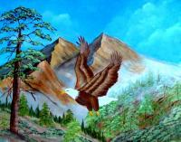 Freedom Flight - Acrylic Paintings - By Fram Cama, Realism Painting Artist