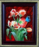 Flowers - Parrot Tulips - Acrylic