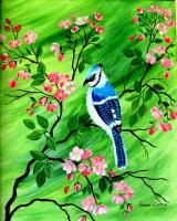 Birds - Bluejay - Acrylic