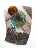 Waters Edge - Glass And Decorative Solder Glasswork - By Sonja London-Hall, Abstract Glasswork Artist