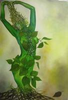 Oil Paintings - The Greeny - Oils On Canvas