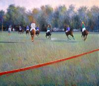 Polo I Love Most - Oil On Canvas Paintings - By Abid Khan, Impressionism Painting Artist