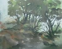 Rajuana - Karala Beach - Water Colour