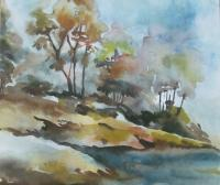 Rajuana - Teesta Beach - Water Colour