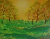 Landscape - Green Spring - Acrylic