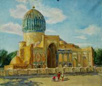 Realism - Gur-Emir Mausoleum Samarkand - Oil On Canvas