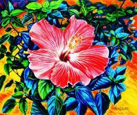 Impressionism - Hibiscus - Oil On Canvas