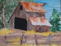Landscapes - Barn Yard - Acrylic
