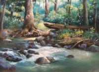 A Quiet Place - Pastel Paintings - By Bill Puglisi, Impressionistic Painting Artist