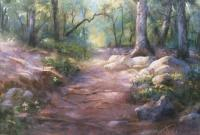 Woods In Warwick Park - Pastel Paintings - By Bill Puglisi, Impressionistic Painting Artist