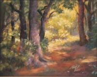 Meeting The Path - Pastel Paintings - By Bill Puglisi, Impressionistic Painting Artist
