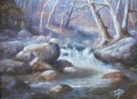 Granite Run - Pastel Paintings - By Bill Puglisi, Impressionistic Painting Artist