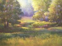 Pasture Grove - Pastel Paintings - By Bill Puglisi, Impressionistic Painting Artist