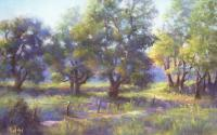 Cattlewalk - Pastel Paintings - By Bill Puglisi, Impressionistic Painting Artist