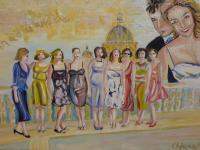 Portraits - Anna E Le Amiche -  Wedding Dream - Oil On Canvas