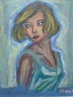 Portraits - When I Was 11 Years Old - Watercolour Pastels And Wax
