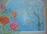 Flowers - Il Giardino Di Paola  Flowers And Love - Oil On Canvas