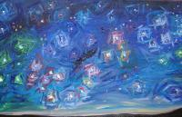 Cieli Stellati - Starred Skys - Starred Sky On Earth - Cielo Stellato Su Terra - Oil On Canvas