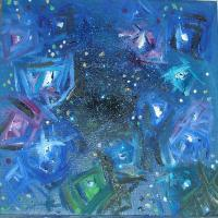 Cieli Stellati - Starred Skys - Cielo Stellato Baby - Oil On Canvas
