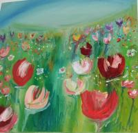 Flowers - Wedding Tulips - Oil On Canvas