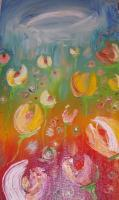 Flowers - Peace Dreaming Tulips - Oil On Canvas