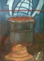 Basotho Still Life - Kit And Hat - Acrylic On Canvas