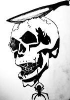 Tattoo Designs - Skull Tattoo Design - Charcoal