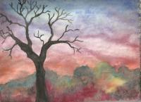 Paintings - Lonely Tree - Water Color