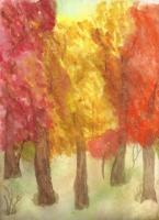 Paintings - Fall View - Water Color