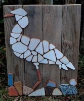 Cattle Egret - Mixed Ceramics - By George Docherty, Mosaic Ceramic Artist
