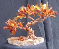 Autumn Breeze - Copperglass Glasswork - By Fred Maddocks, Nature Glasswork Artist