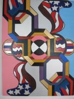 Abstract - Veterans Day 2007  Hebrew Letter Aleph - Acrylic  Oil On Canvas