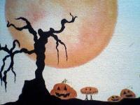 Fall - Creepy Pumpkin Patch - Premium Acrylic On Canvas