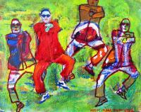 Gangnam Style I - Acrylic On Canvas Paintings - By Gien San Tan, Figurative Painting Artist