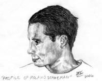 Pencil Sketches - Profile Of Roland Schoeman - Pencil And Paper