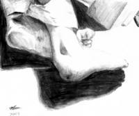 Pencil Sketches - Return Of The Feet 2 - Pencil And Paper