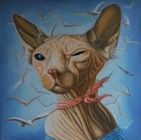 Time - Captain Sphynx - Oil On Linen