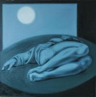 Museum Series - Laying Figure - Oil On Linen