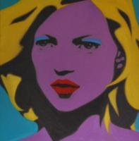Pop Art - Kate Moss - Oil On Linen