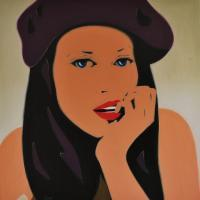 Pop Art - Cant Take My Mind  Of You - Oil On Linen