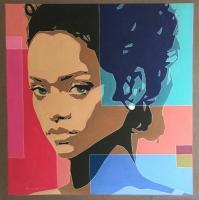 Famous Portraits - Rihanna - Oil On Linen