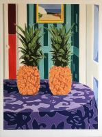 Still Life - Still Life With Two Pineapples - Oil On Linen