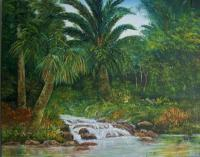 Tropical Waters - Oil On Canvas Paintings - By Lloyd Charvis, Realism Painting Artist