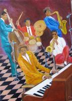 Music - Jazz - Oil On Canvas
