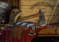 Thunder Mountain Trading Company - Oil On Canvas Paintings - By Robert Goldsberry, Realism Painting Artist